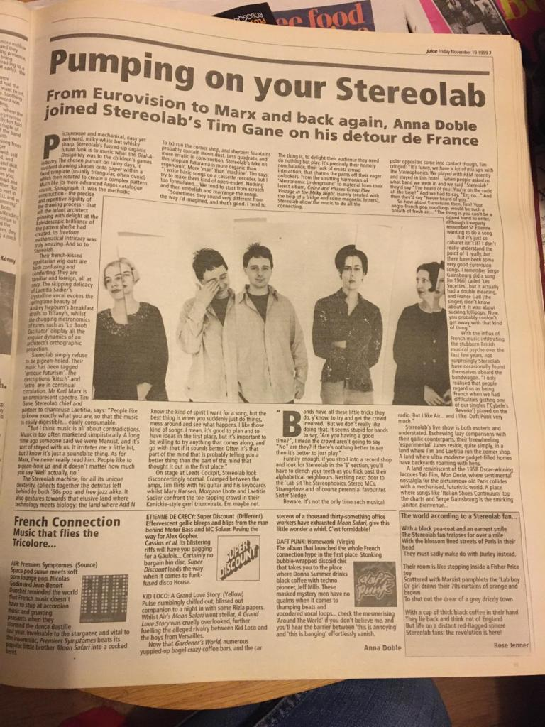Stereolab interview, Leeds Student, 1999